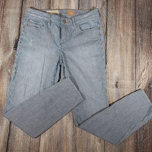 Anthro Pilcro Stet Railroad Striped Jeans 28